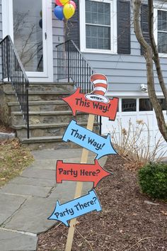 Adventures by the Shore: Dr. Seuss First Birthday Party Adventures by the Shore: Dr. Seuss First Bir Twin First Birthday, Baby Birthday, First Birthday Parties, Birthday Ideas, Grad Parties, Dr Seuss Party Ideas, Dr Seuss Birthday Party, Dr. Seuss, Cat In The Hat Party