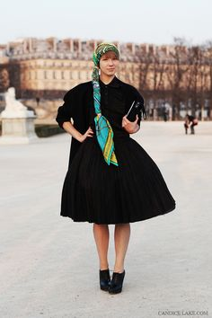Russian fashion designer Vika Gazinskaya, in paris- Street style