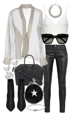 """Untitled #20815"" by florencia95 ❤ liked on Polyvore featuring Yves Saint Laurent, T By Alexander Wang, MaxMara, Givenchy, STELLA McCARTNEY, Michael Kors and FOSSIL"