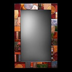 Art Deco Firescale Mirror: Kim Eubank and Will Armstrong: Metal Mirror - Artful Home Mirror Mosaic, Metal Mirror, Mosaic Art, Mosaic Glass, Fused Glass, Mosaics, Handmade Mirrors, Art Deco, Stained Glass Art