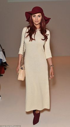 Amy Childs dons floral wide-legged trouser suit to C.J. Yao LFWshow - Celebrity Fashion Trends