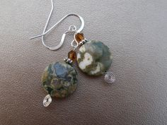 Ryolite Earrings with Swarovksi Crystals. Starting at $10 on Tophatter.com!