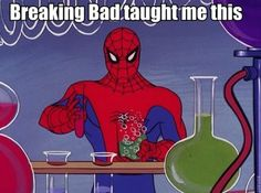 Spiderman Learns to Cook Meth