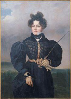 Portrait de Sophie Dawes, baronne de Feuchère (1790-1840) Valbrun Alexis Léon Louis (1803-1852)