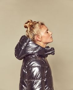 Image 2 of METALLIC QUILTED JACKET from Zara