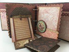mini scrapbook album using Santoro London Paper Collection Santoro London, Mini Albums, First Love, Crafting, Scrapbooking, Things To Come, Paper, Frame, Cards