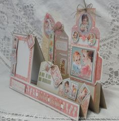 THIS INCREDIBLE 3D WORK OF ART USING LITTLE DARLINGS IS BY @SABRINA RADECK WHO WILL BE TEACHING A CLASS ON HOW TO MAKE IT. CLICK TO SEE THE PHOTOS BECAUSE YOU WILL FIND HIDDEN POCKETS AND TAGS AND TREASURES! #GRAPHIC45