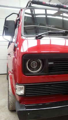 Cool headlights & grill. Tim Kemp's Van: Facebook. VW T25 club (for sale I think)