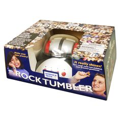 Create beautiful polished stones with this wonderful Rock Tumbler from Elenco Electronics and make jewelry keepsakes for friends, family, and yourself. Start your tumbling with the included rocks and