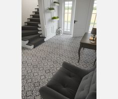 Dorset Feature Black Wall and Floor Tiles from Tile Mountain only per tile or per sqm. Order a free cut sample, dispatched today - receive your tiles tomorrow Hallway Flooring, Traditional Tile, Small Tiles, Wall And Floor Tiles, Black Walls, Modern Spaces, Color Themes, Victorian Era, Timeless Design
