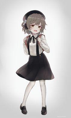 Kawaii Art, Kawaii Anime Girl, Anime Art Girl, Anime Guys, Girls Characters, Anime Characters, Neko, Anime Monsters, Arte Obscura