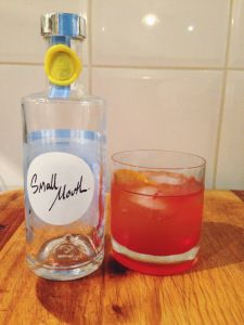 The Small Sunset, our final experience with Small Mouth Vodka in #smallmouthweek. Read more at http://cocktailchallenge.wordpress.com/2014/06/20/small-mouth-week-now-serving-small-sunset/
