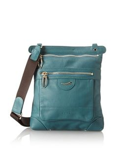 50% OFF Tusk Women's Donington Napa Crossbody, Sea Green
