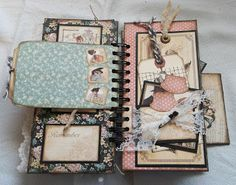 "Creative Cafe': A Vintage ""Ladies' Diary"" Mini Album"