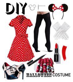 """DIY Halloween Costume: Minnie Mouse"" by alexisperry-1 on Polyvore featuring Commando, Mix & Match, Black, NARS Cosmetics, Disney, halloweencostume and DIYHalloween"