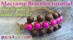 Macrame Bracelet Tutorial: How to make a beaded bracelet
