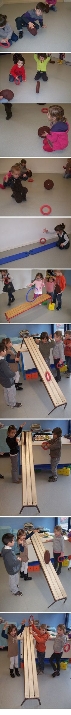 Faire rouler... comme la galette - Ecole Publique de la Vallée de l'Yon Gross Motor Activities, Sensory Activities, Activities For Kids, Gym Program, Multiplication For Kids, Petite Section, Outdoor Play, Pre School, Motor Skills