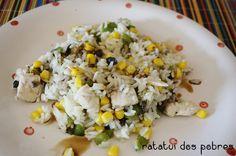 Salada de arroz, frango, pimento e milho | ratatui dos pobres