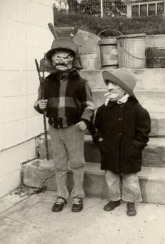 1b16f93d9f5 halloween. can t tell if that kid on right is smoking Creepy Vintage