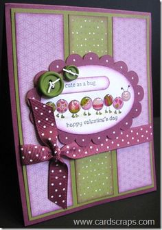 Stampin Up! Valentine's Day. fabulous color combo....Adorable!