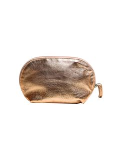 necessaire rose pequena de couro lepreri - small leather necessaire for everything gold