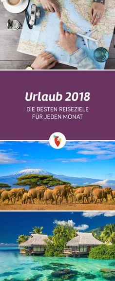 Finde alle Details zu Reisezielen, Temperaturen und Events für jeden Monats des Jahres 2018 via Urlaubspiraten.de! #Reisen #2018 #Tipps