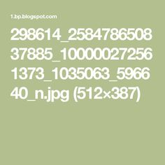 298614_258478650837885_100000272561373_1035063_596640_n.jpg (512×387)