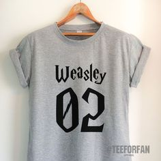 9bbb549cb Harry Potter Shirt Harry Potter Merchandise Ron Weasley T Shirt Clothes  Quidditch Jersey Top Tee for
