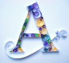 Paper Quilling Letter K | INICIALS QUILLING / INICIALES QUILLING/ QUILLING CAPITAL LETTERS.