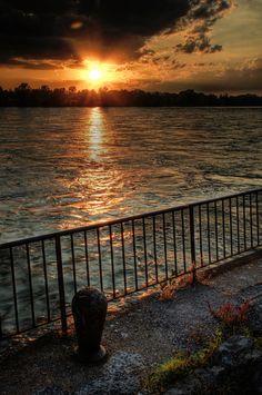 Lake Erie sunset in Buffalo, NY