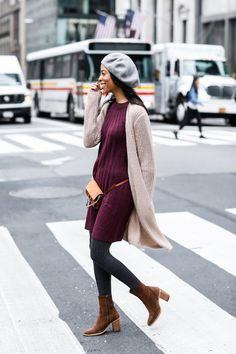 Layered sweater weather look from LOFT #ad
