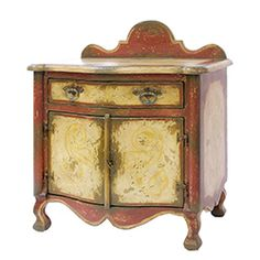 Red and Gold French Commode