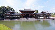 Byodoin Temple (平等院, Byōdōin) is a striking example of Buddhist Pure Land (Jodo) architecture. Together with its garden, the temple represents the Pure Land Paradise and was influential on later temple construction.
