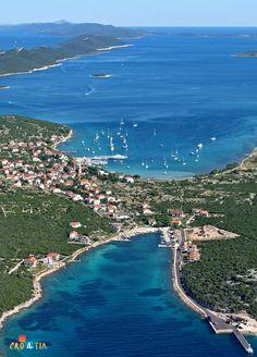 Island Ist near Zadar, Croatia. Ist is a small island off the Dalmatian coast of Croatia. (V)