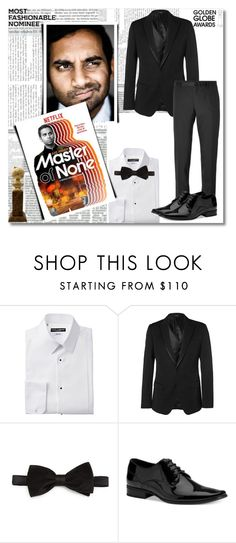 """""""Aziz Ansari"""" by patigshively ❤ liked on Polyvore featuring Dolce&Gabbana, Stefano Ricci, Calvin Klein and GoldenGlobes"""