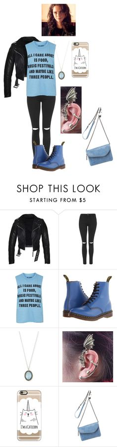 """""""Annie put a piercing"""" by vic-valdez on Polyvore featuring Topshop, Dr. Martens, Effy Jewelry, Armenta, Casetify and HOBO"""