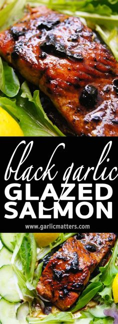 20min Salmon with Black Garlic Glaze recipe is amazing, but the 4 ingredients glaze works great over veg salads too. Try & see for yourself!
