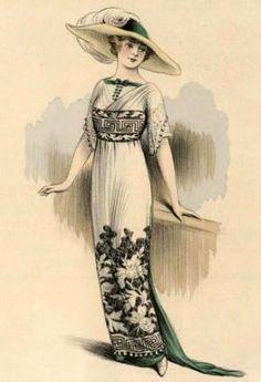 Art Nouveau - Illustration de Mode - 1912