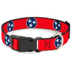 Buckle-Down 15-26' Tennessee Flag Stars Red/White/Blue Plastic Clip Collar, Large * Continue to the product at the image link. (This is an affiliate link and I receive a commission for the sales) #PetDogs