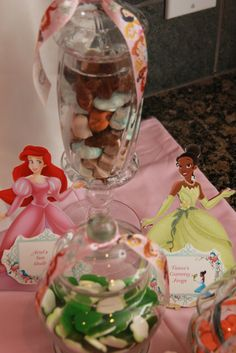ariel's sea shells and tiana's gummy frogs