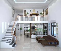 Modern Small House Design, Small House Interior Design, Bungalow House Design, House Front Design, Tiny House Design, House Map Design, Small House Interiors, Minimalist House Design, Home Stairs Design