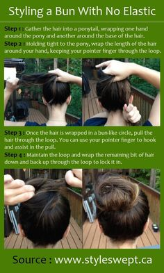 Styling a Bun With No Elastic