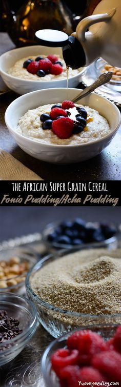 Fonio is a drought resistant, gluten-free, nutritious (cystine and methionine loaded) ancient super grain mostly grown in the Western Sahel region of Africa, and this Acha pudding or fonio pudding recipe uses it in a delicious breakfast porridge which will absolutely blow your expectations of oatmeal away!