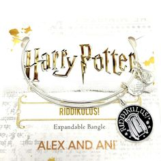 Check it out Potter Heads! Alex And Ani Harry Potter Silver Riddikulus Charm Bangle Bracelet NWT Gift Box Harry Potter Charm Bracelet, Harry Potter Charms, Harry Potter Jewelry, Bangle Bracelets With Charms, Alex And Ani Bracelets, Silver Bangles, Silver Charms, Gold Gift Boxes, Charmed