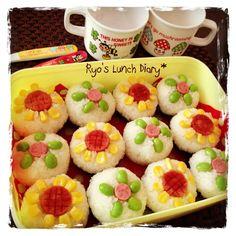 Flower onigiri