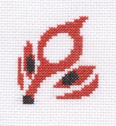 Okamiden icon cross stitch by Lil-Samuu