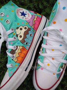 66a6b86ce6e6fe Cupcake Converse cupcake shoes baker baker gifts cake