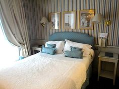 Three-star rooms steps from the rue Cler at the Hotel du Champs de Mars.