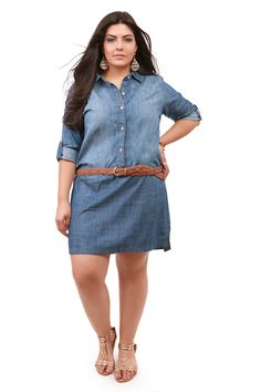 Lucky Brand Popover Chambray Dress Plus Size Nordstrom