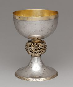 Chalice, ca. 1222  Brother Bertinus  Made in possible Meuse Valley, Northern Europe  Silver and silver gilt